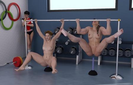 видео м голвми гимнастками