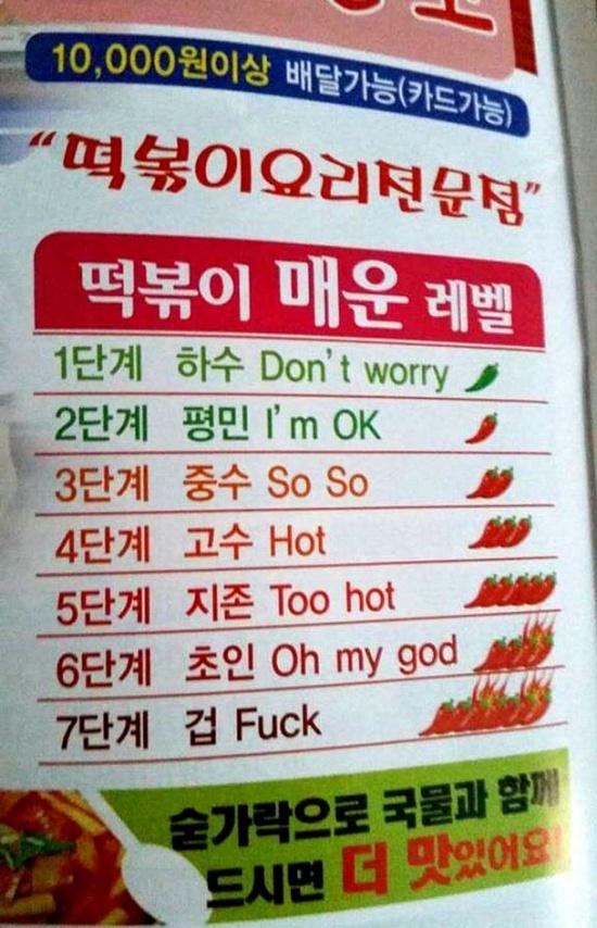 3454345koreanspicelevels